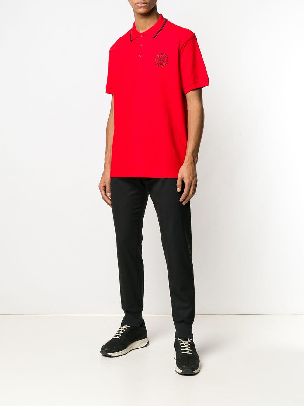 1ab86b9f0 Burberry Classic Polo Shirt in Red for Men - Lyst