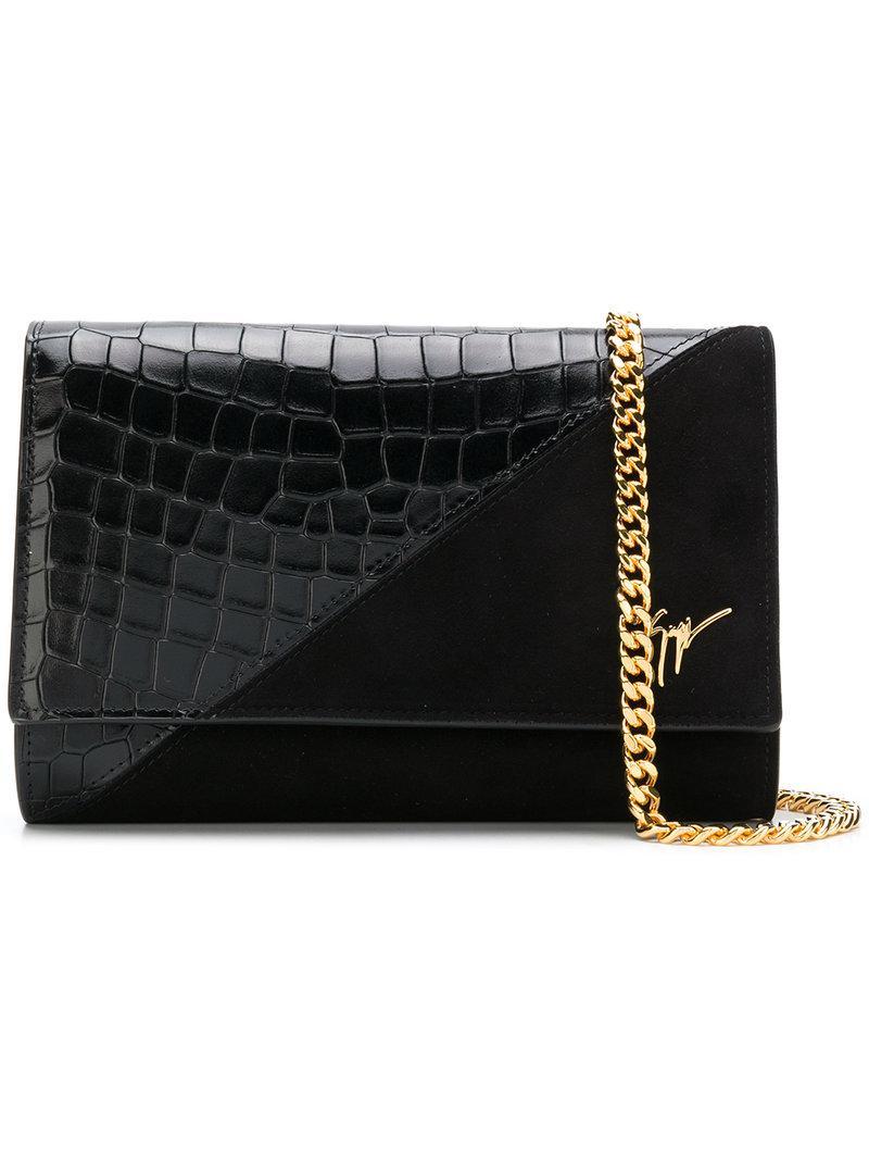 Giuseppe Zanotti Cleopatra velvet shoulder bag JA4ftp67G2