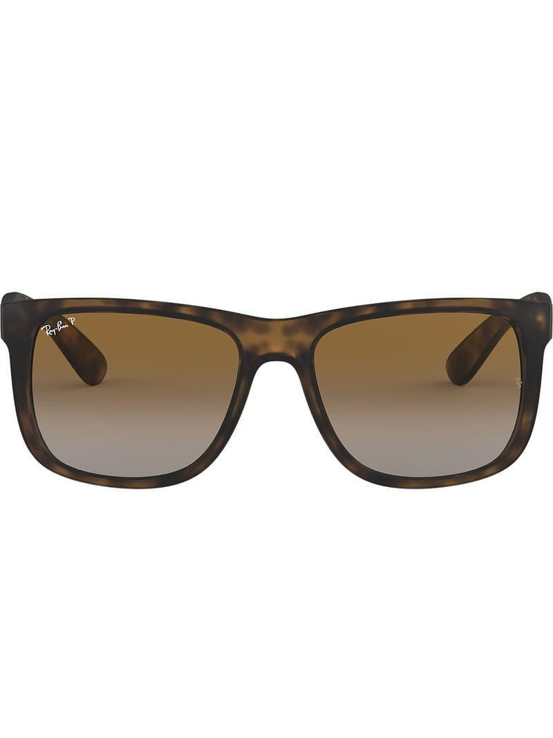 0d50e3564c Ray-Ban Justin Sunglasses in Black - Lyst
