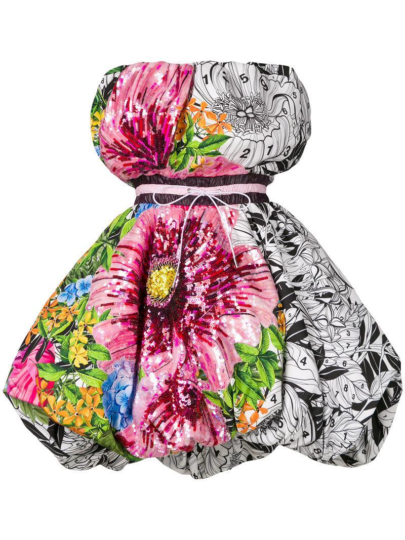 Mary Katrantzou floral print bubble dress Discount qyIaxHG