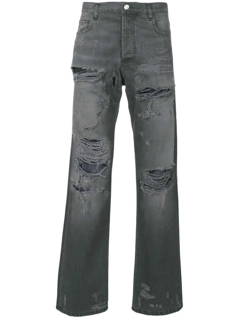 bc4ff1e1 Lyst - Faith Connexion Distressed Regular Jeans in Gray for Men