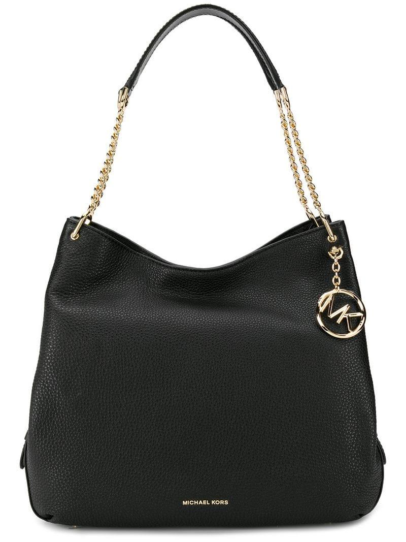 Michael Michael Kors Lillie Large Tote in Black - Lyst 1be124fa66397