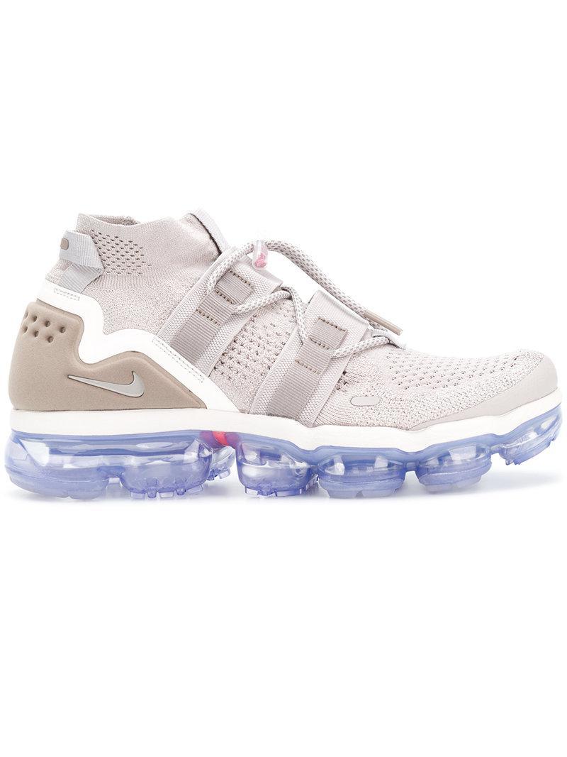 6c0f0885aa Nike Air Vapormax Flyknit Utility Sneakers in Gray for Men - Lyst