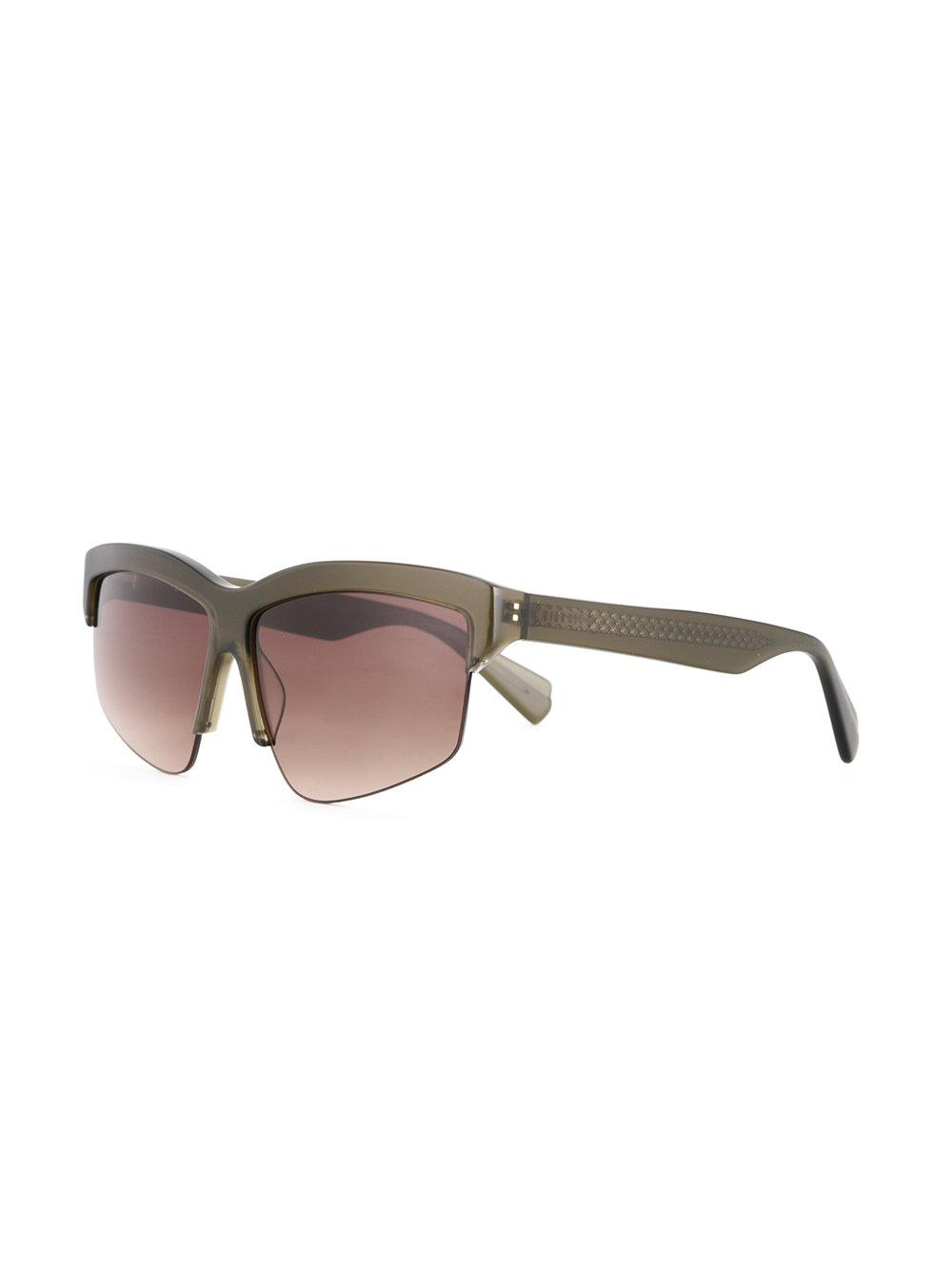 bb2525b8e7ce Dion Lee - Green Matte Sunglasses - Lyst. View fullscreen