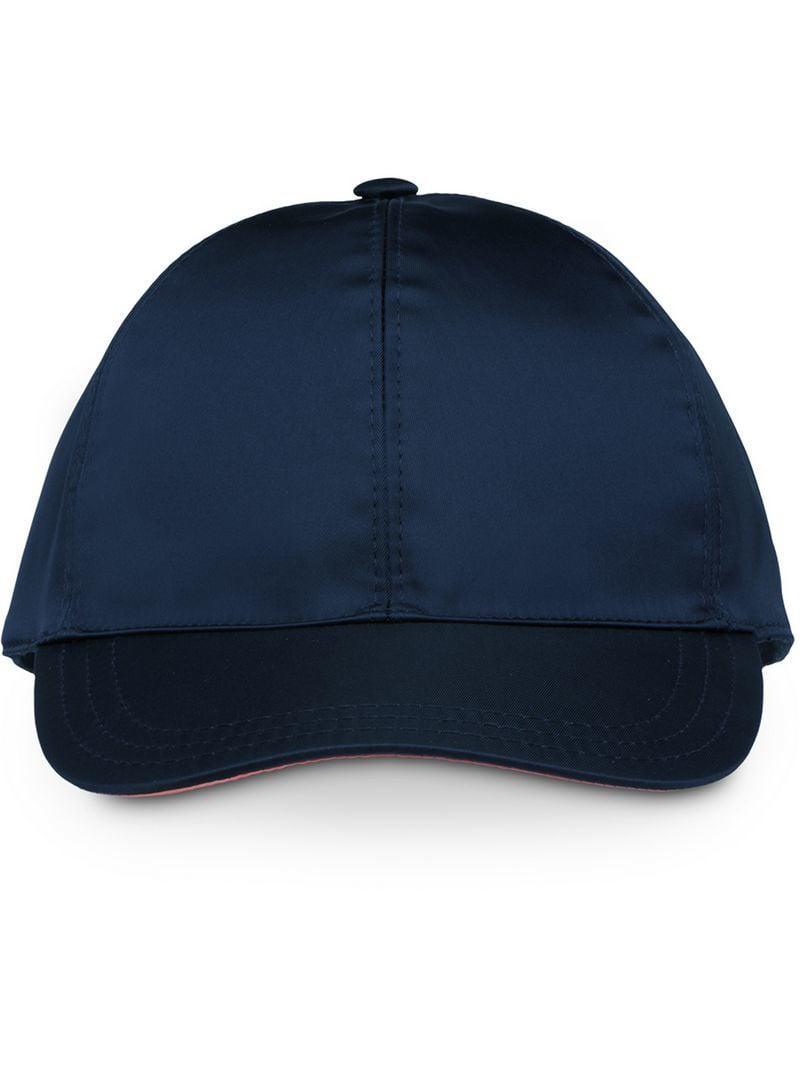 Lyst - Prada Baseball Cap in Blue for Men 0f9ebba6018c