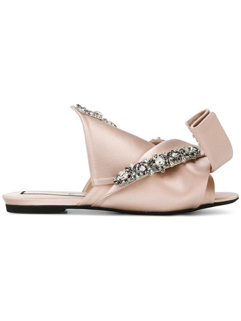abstract bow mesh sandals - Nude & Neutrals N°21 oNxJwhxv