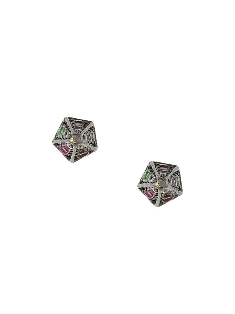 Noor Fares Rainbow Cone earrings - Multicolour y4z15ZLRhP