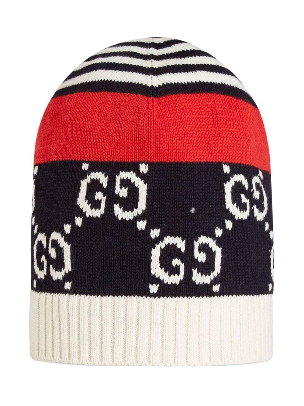 b010853b1df Gucci Cotton Hat With GG Motif in Blue for Men - Lyst