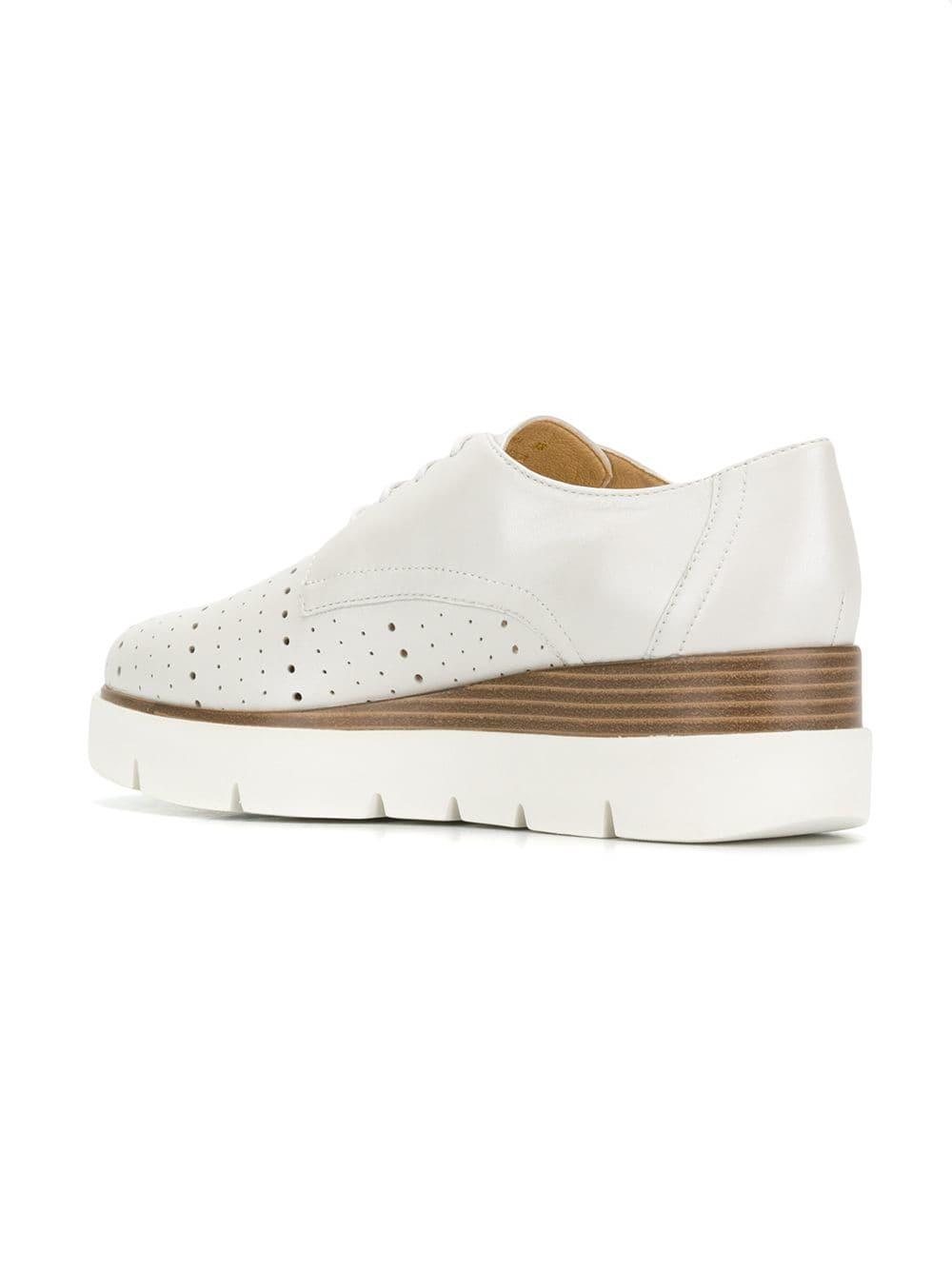 95ee1eadf5 Geox Kattilou Lace-up Shoes in White - Save 13% - Lyst