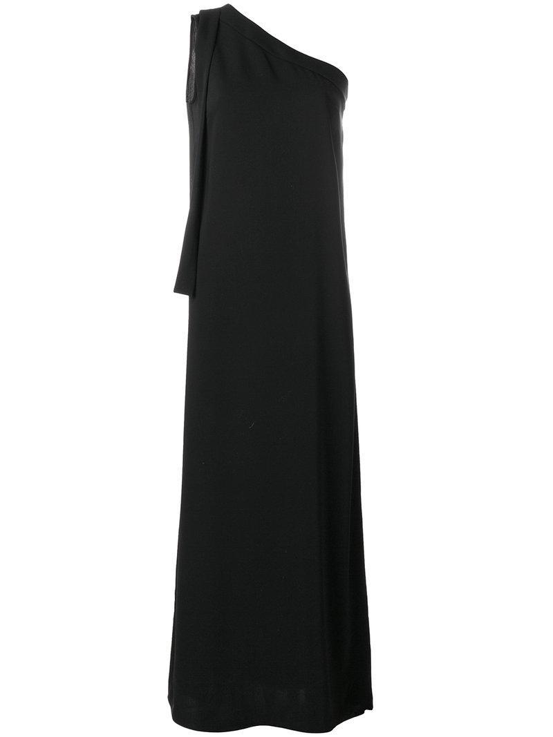 one shoulder maxi dress - Black P.A.R.O.S.H. SYrqCWLn