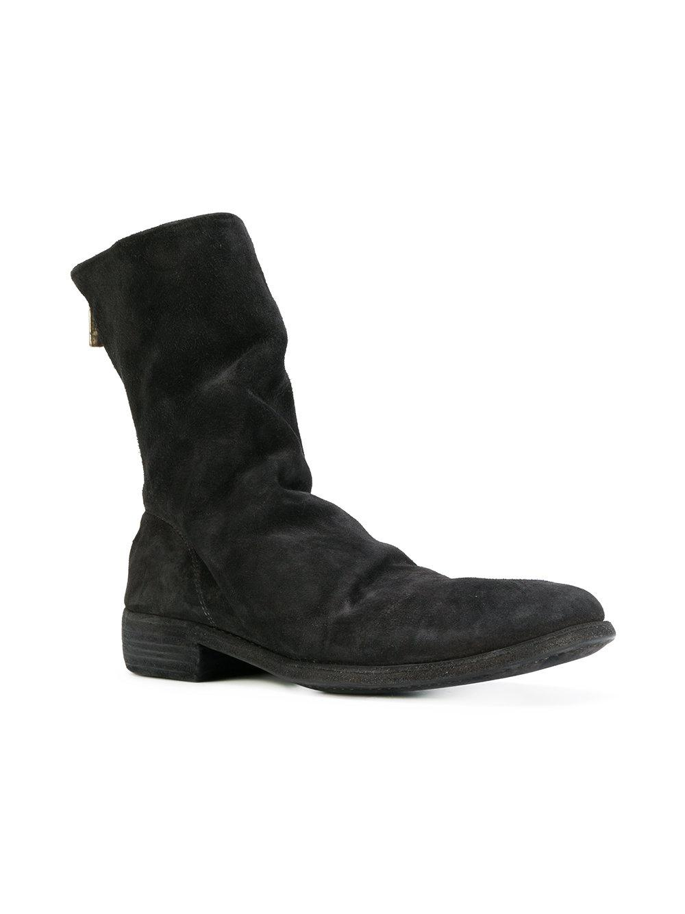 GUIDI Relaxed zipped boots mWkTLmfA8F