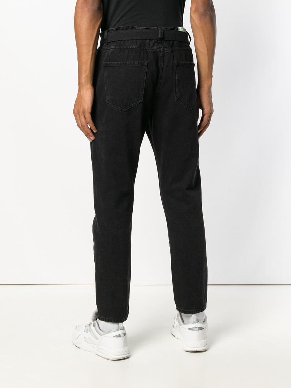 f66a0fe2 Lyst - Off-White c/o Virgil Abloh Low Crotch Jeans in Black for Men