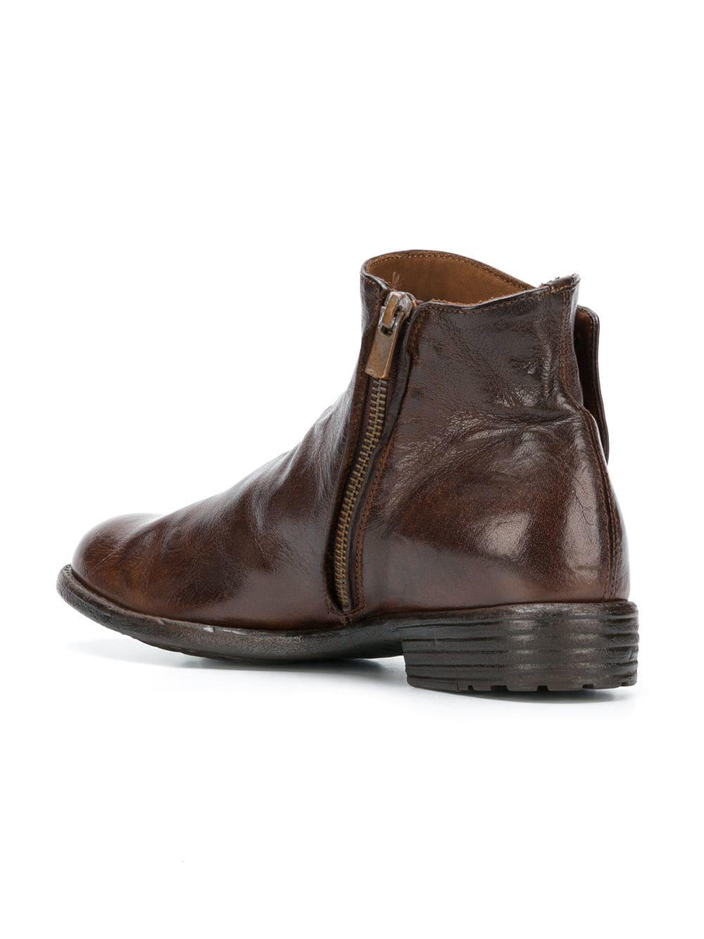 Officine Creative Leather Mars Boots In Brown Lyst