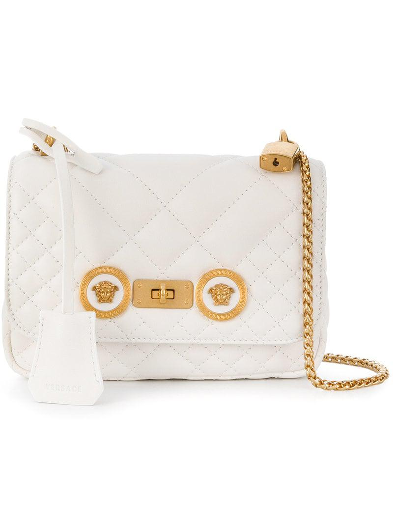 f66089885f52 Lyst - Versace Small Icon Shoulder Bag in White - Save 35%