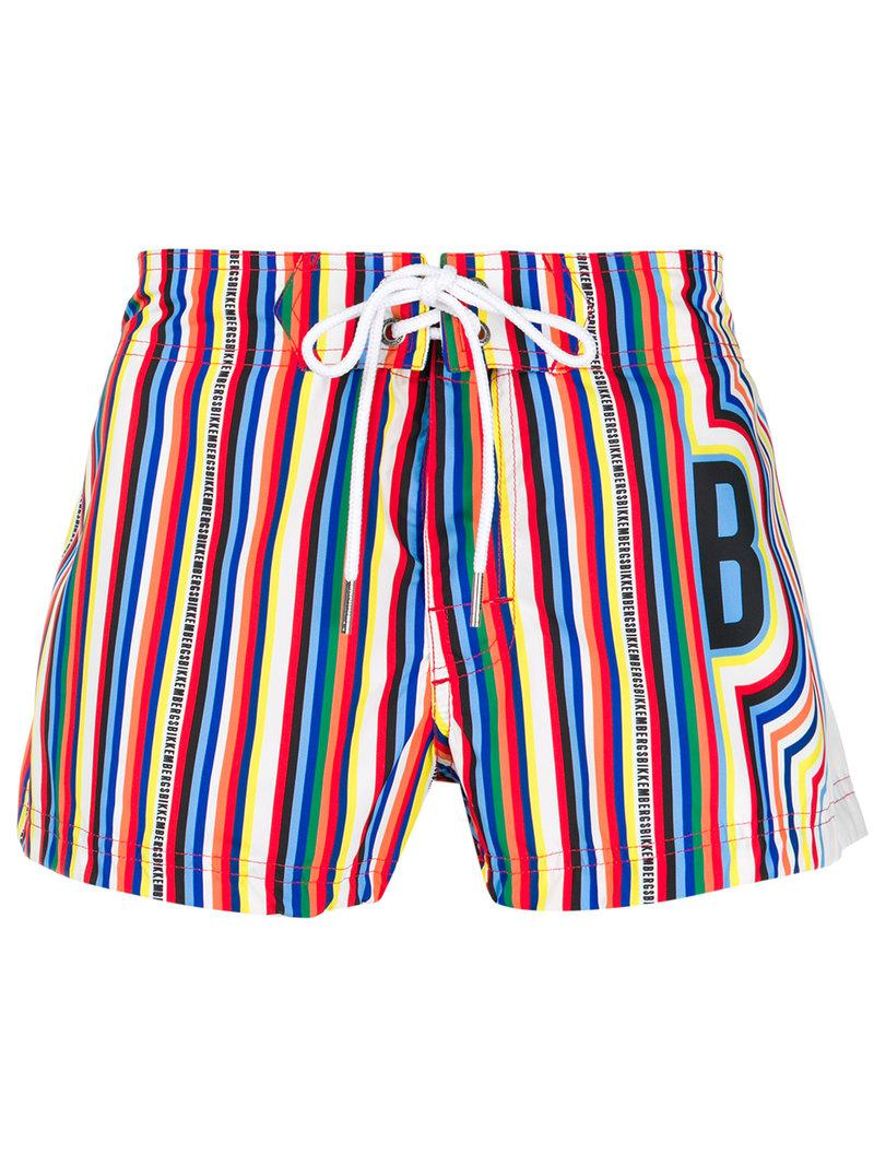 Mens Stripe Logo Shorts Dirk Bikkembergs Exclusive Cheap Online Free Shipping Low Price Fee Shipping Cheap Excellent AKBAy