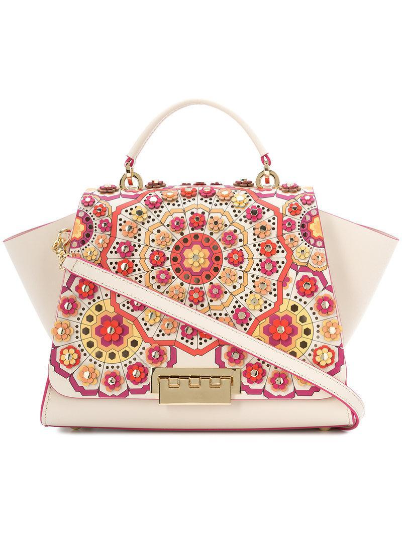 Sale Purchase Online Cheap Quality Eartha floral appliqué tote bag - White Zac Posen Sneakernews Sale Online Visit New Cheap Online 2JqAeowGe