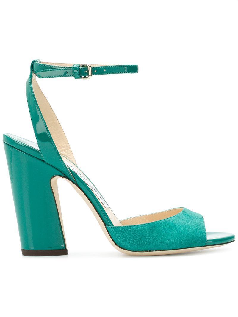 Jimmy choo Women's Miranda 100 Mixed-Media Color-Block High-Heel Sandals Dral6qeyfd