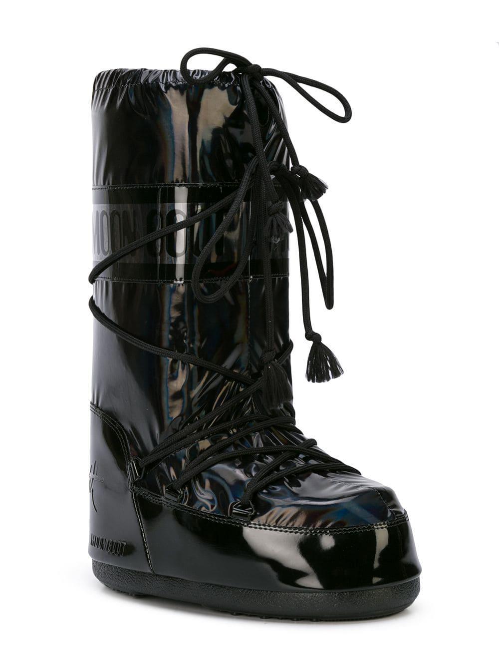 d79743a4502a Jeremy Scott - Black X Moon Boots - Lyst. View fullscreen