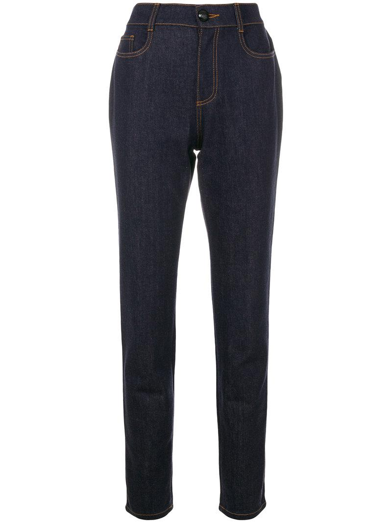 high-waist straight leg jeans - Blue Fendi igeUb