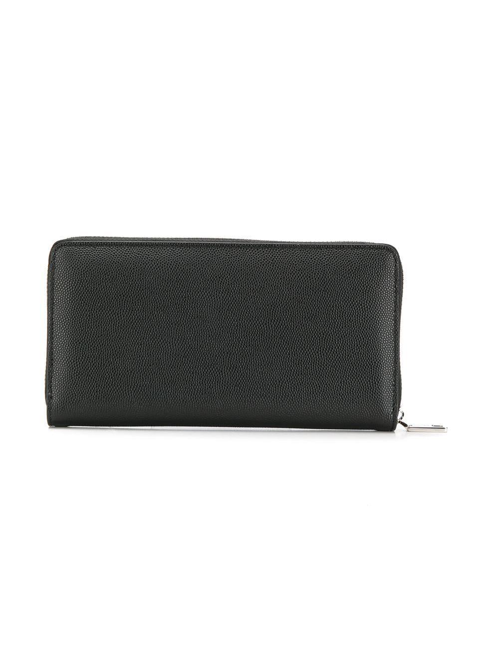 6b357452f6 Lyst - Dolce & Gabbana Zip Around Wallet in Black for Men