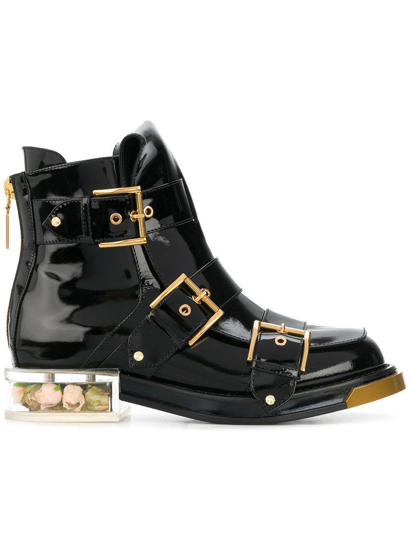 Cheap 2018 Newest Cheap The Cheapest buckle fastening boots - Black Alexander McQueen Wide Range Of For Sale Pictures Cheap Price Discount Professional fy5KCcuC