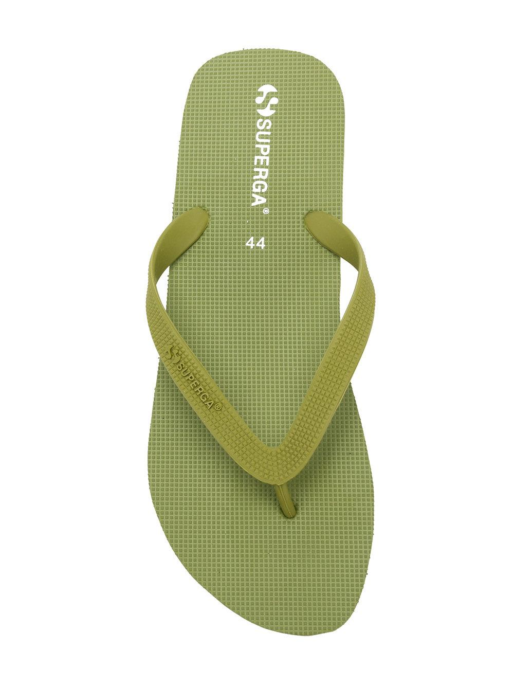 058d44a3c904e2 Lyst - Superga Embossed Logo Flip Flops in Green