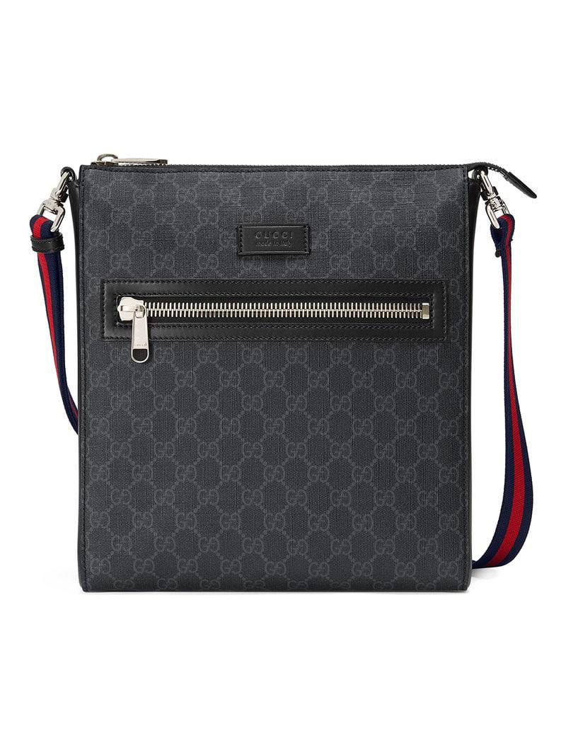 44b37b4cba6d67 Gucci GG Supreme Messenger in Black for Men - Save 3% - Lyst