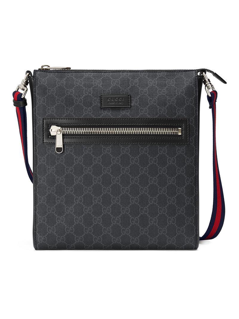 Lyst - Sac à bandoulière suprême GG Gucci pour homme en coloris Noir 55c0750218b
