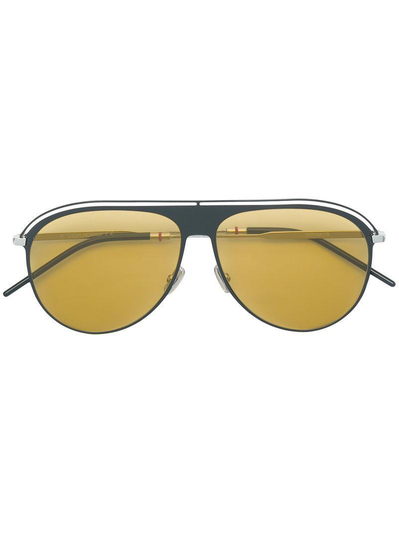 a358ef5c6a6e Lyst - Dior Aviator Sunglasses in Metallic