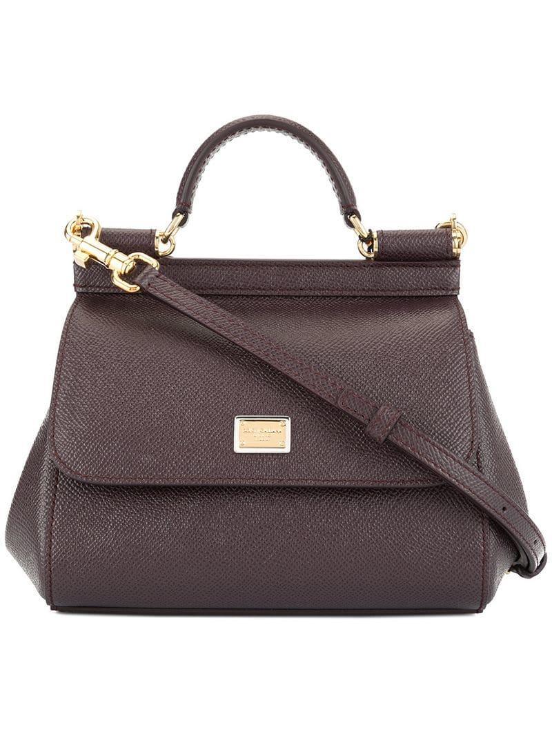72818ce3160f Lyst - Dolce   Gabbana Mini Sicily Bag in Purple