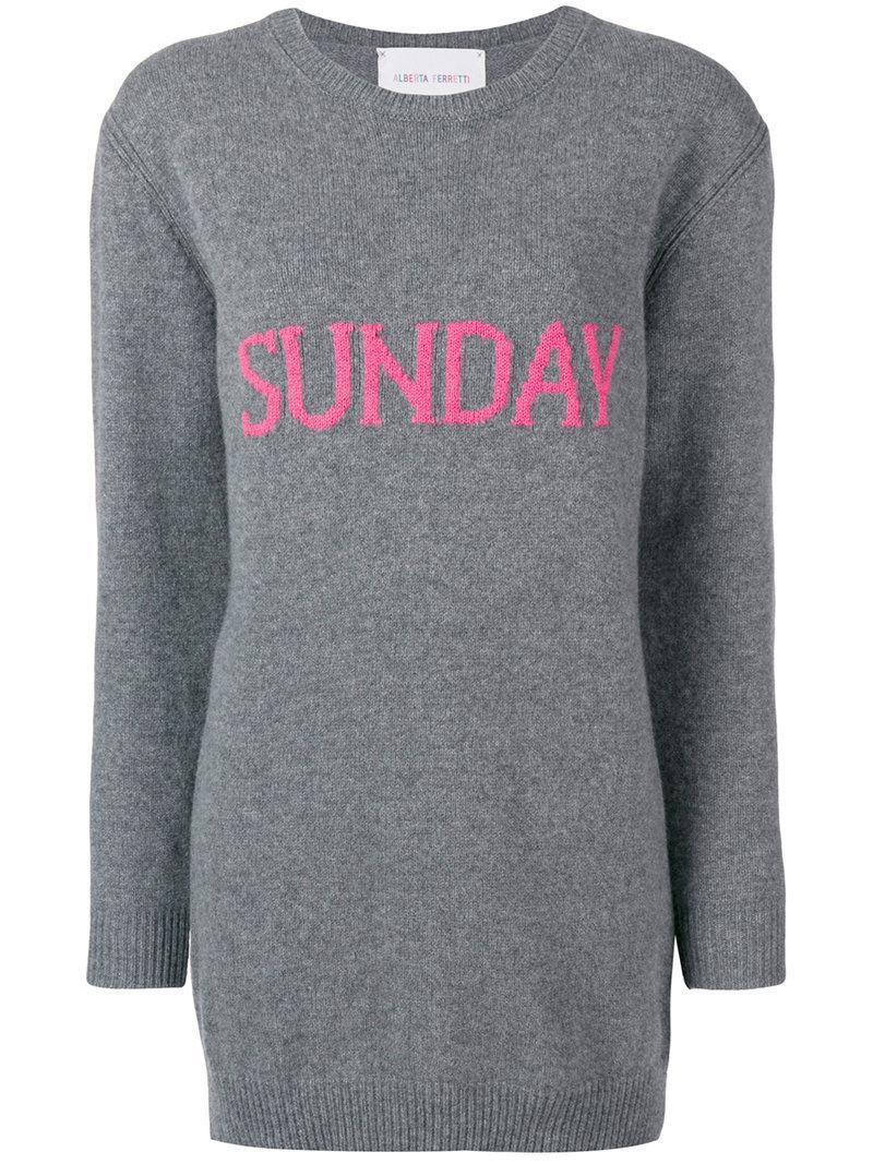 b36bfc911c Alberta Ferretti - Gray Sunday Sweater Dress - Lyst. View fullscreen