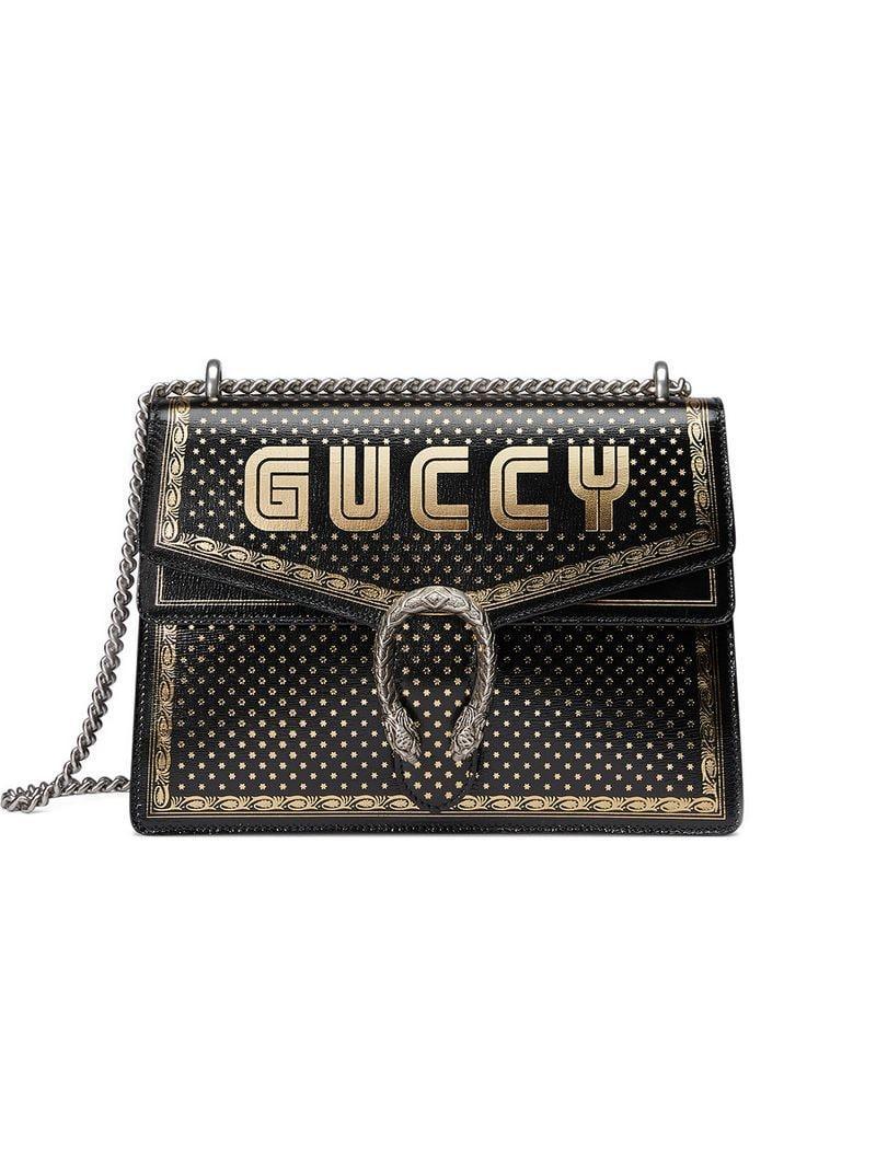 29b1ea1537 Lyst - Sac porté épaule Guccy Dionysus Gucci en coloris Noir