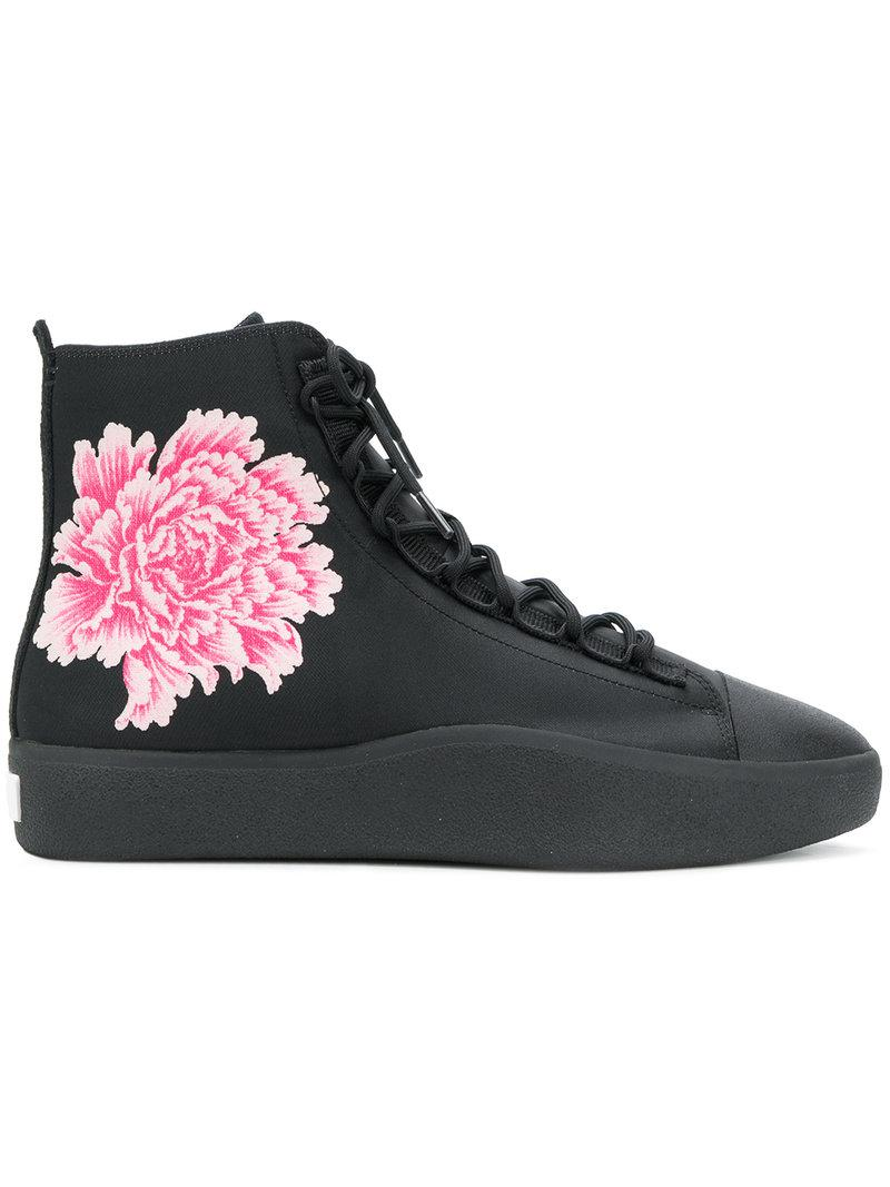 f5cfd305fcb6e Lyst - Y-3 X James Harden Floral Hi-top Sneakers in Black