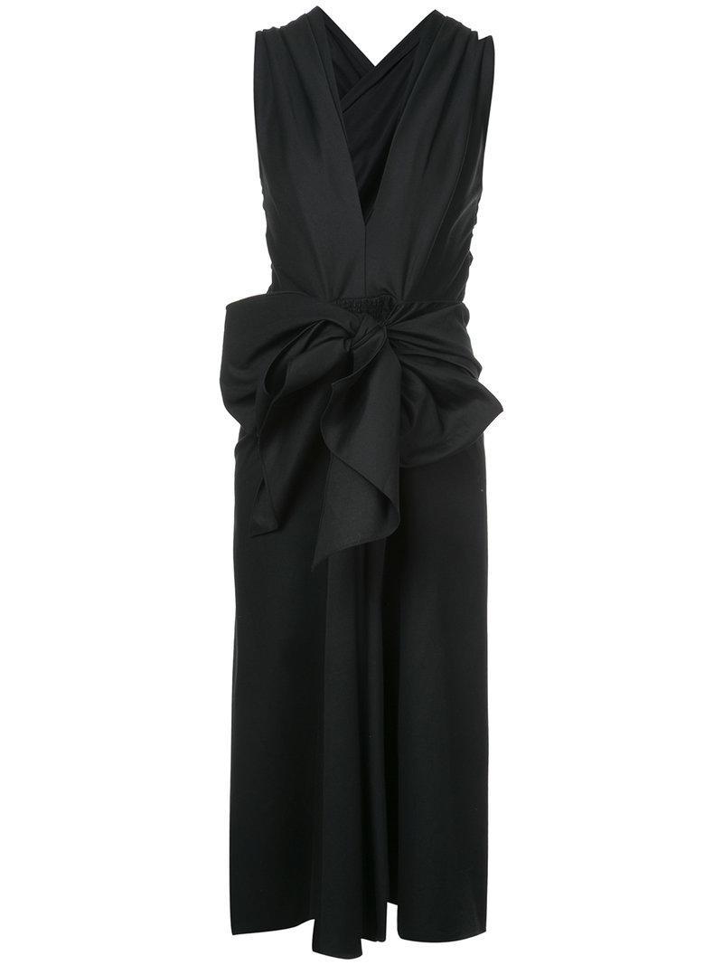 V-neck bow dress - Black Tome Discount 2018 Discount Finishline Cheap Sale Authentic e2kHfR3