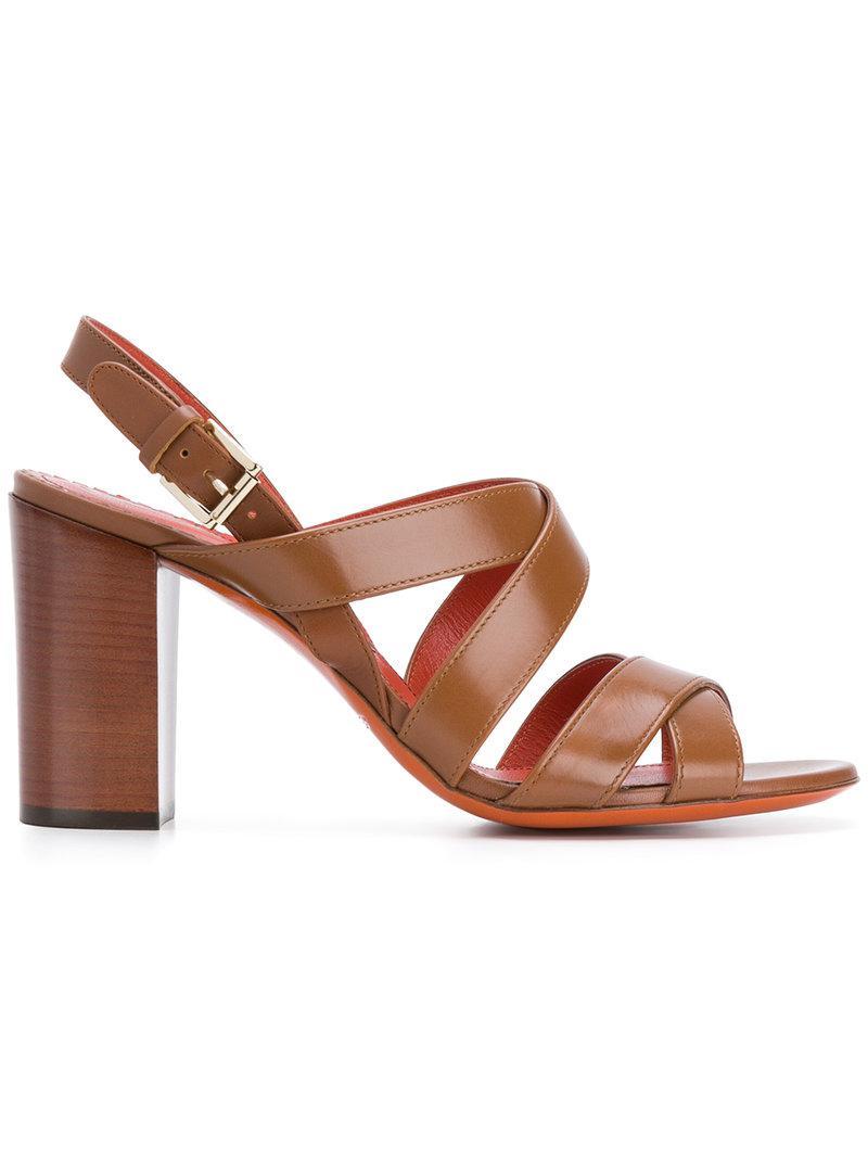 strappy sandals - Brown Santoni 5Fi3KHO5wJ
