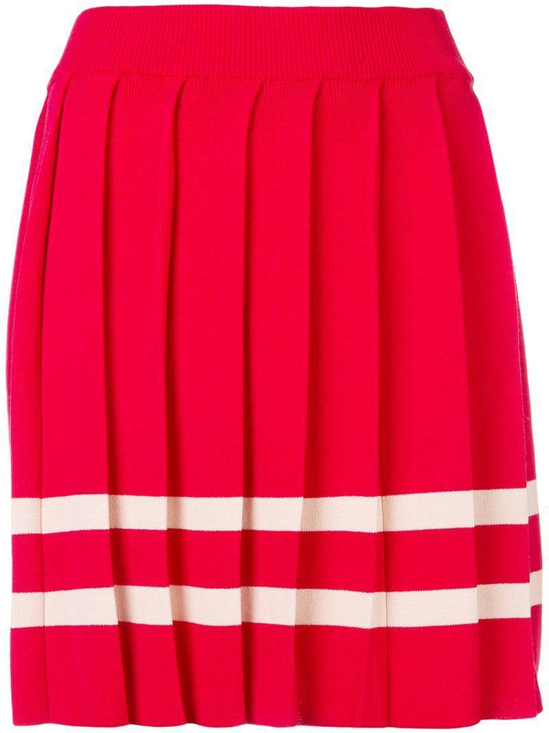 db5266d116 Pinko Pleated Mini Skirt in Red - Lyst