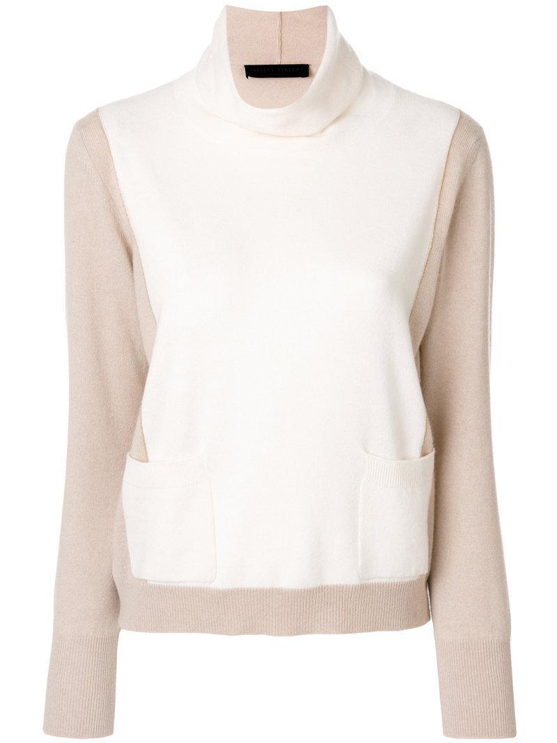 bead embellished V-neck sweater - Nude & Neutrals Fabiana Filippi Outlet Sast G4ofJOpa