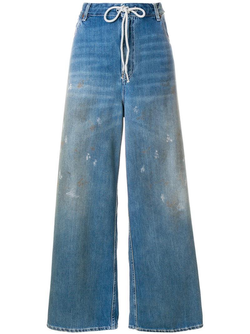 Pantalon Surdimensionné En Détresse - Maison Bleue Martin Margiela 2T0gDBz