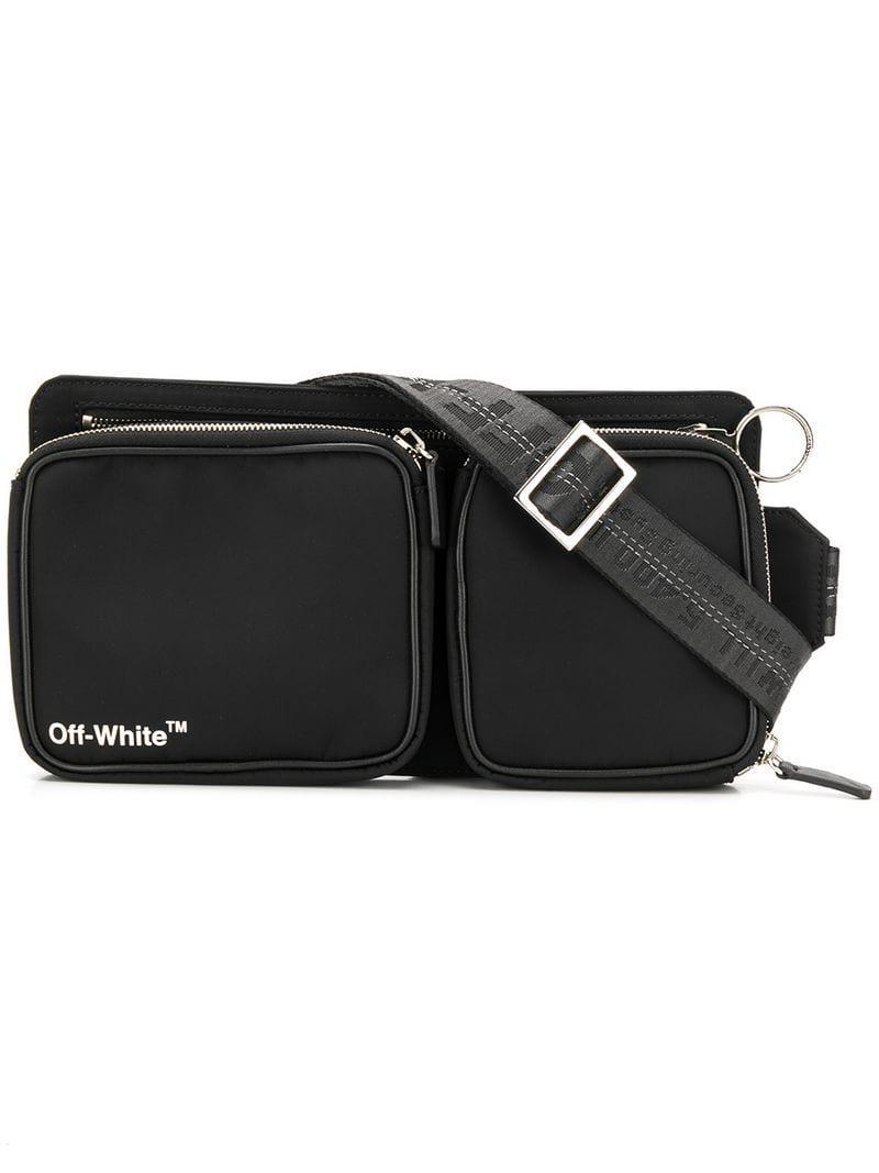 690866e079e Lyst - Off-White c o Virgil Abloh Logo-print Belt Bag in Black for Men