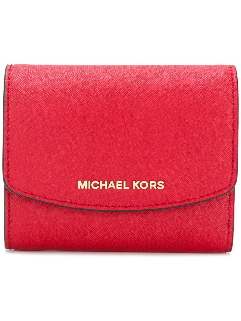 b83ed59a0468 Lyst - MICHAEL Michael Kors Ava Card Holder in Red