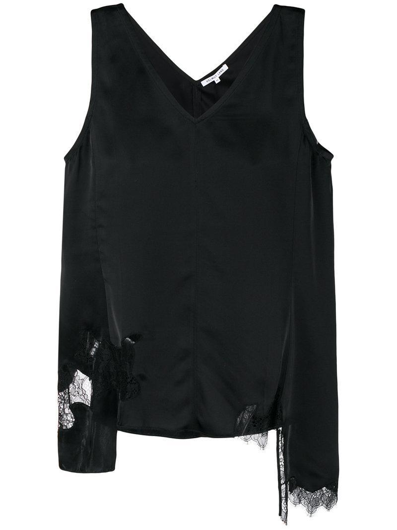 30ea87a4f42b2d Helmut Lang Deconstructed Slip Top in Black - Save 44.84848484848485 ...
