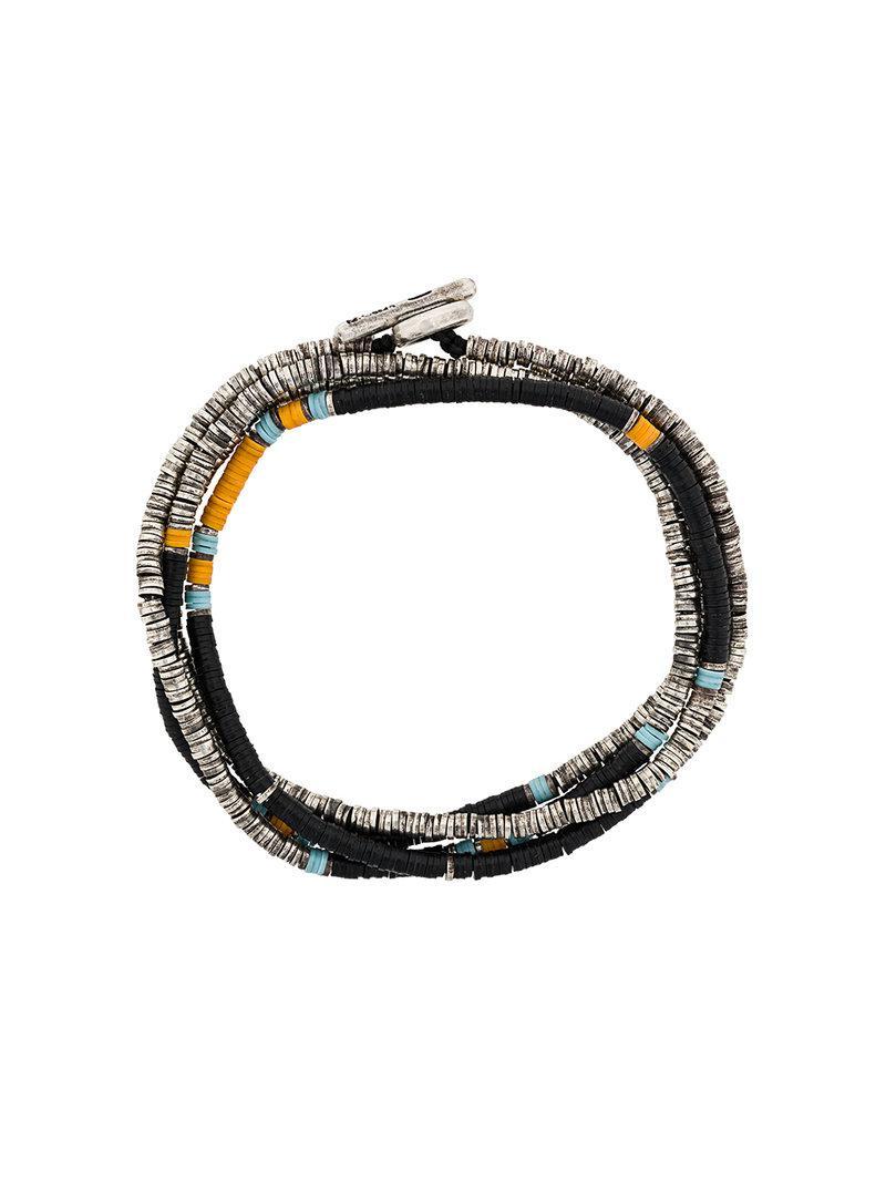 M. Cohen multi strand beaded bracelet - Metallic l1NRohPrbR
