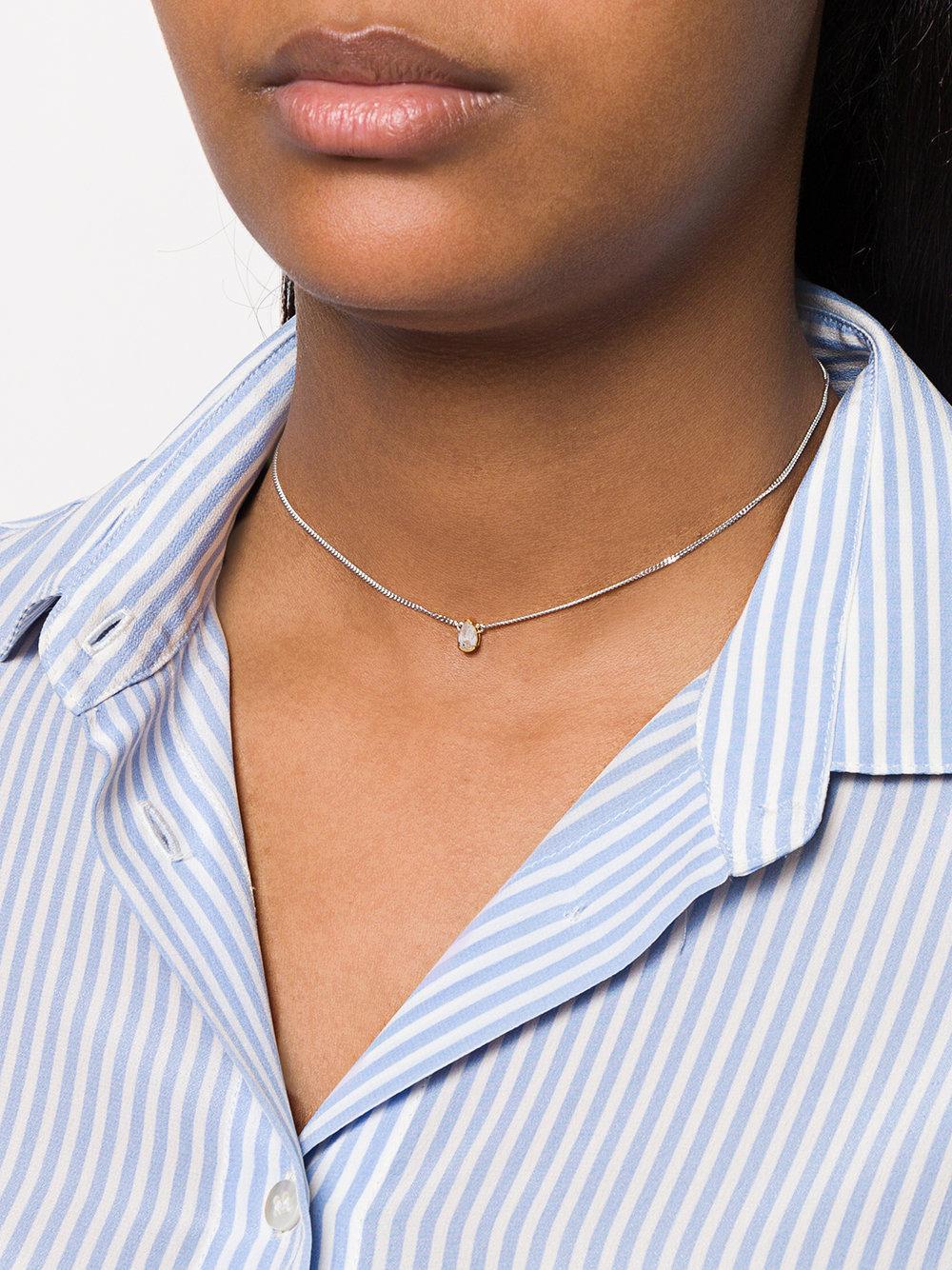 V JEWELLERY Evelyn necklace - Metallic kgn8RRr