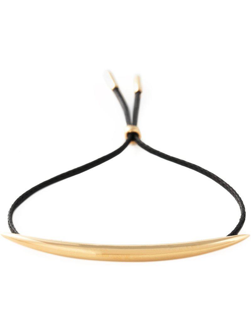 Shaun Leane Quill leather bracelet - Metallic GysYp2V4EJ