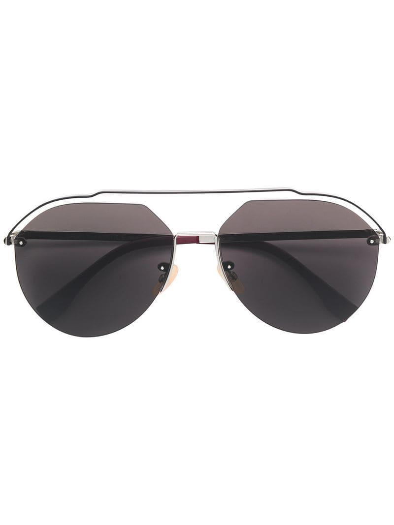 4eae4727673 Lyst - Fendi Aviator Frame Sunglasses in Metallic for Men