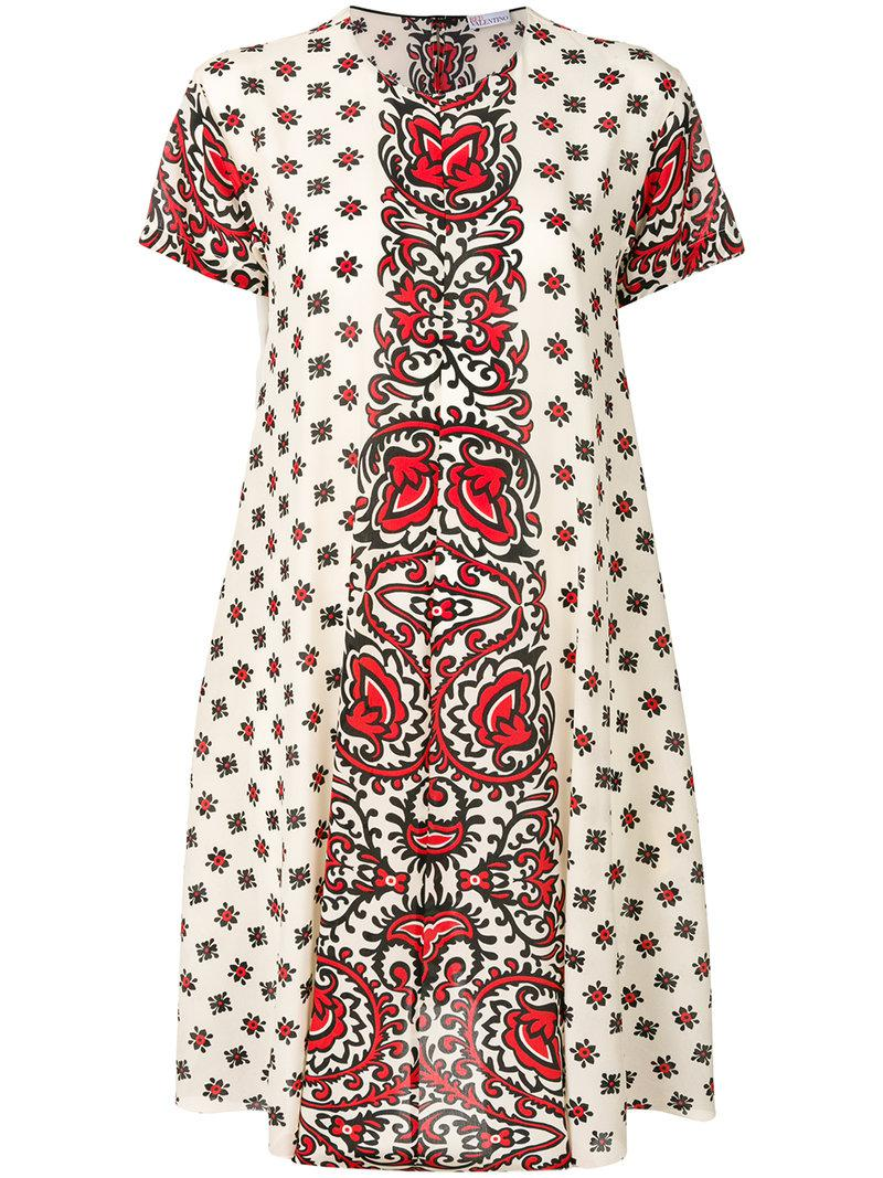 printed flared dress Red Valentino Cheap Sale Outlet Locations zwHtWXaPh