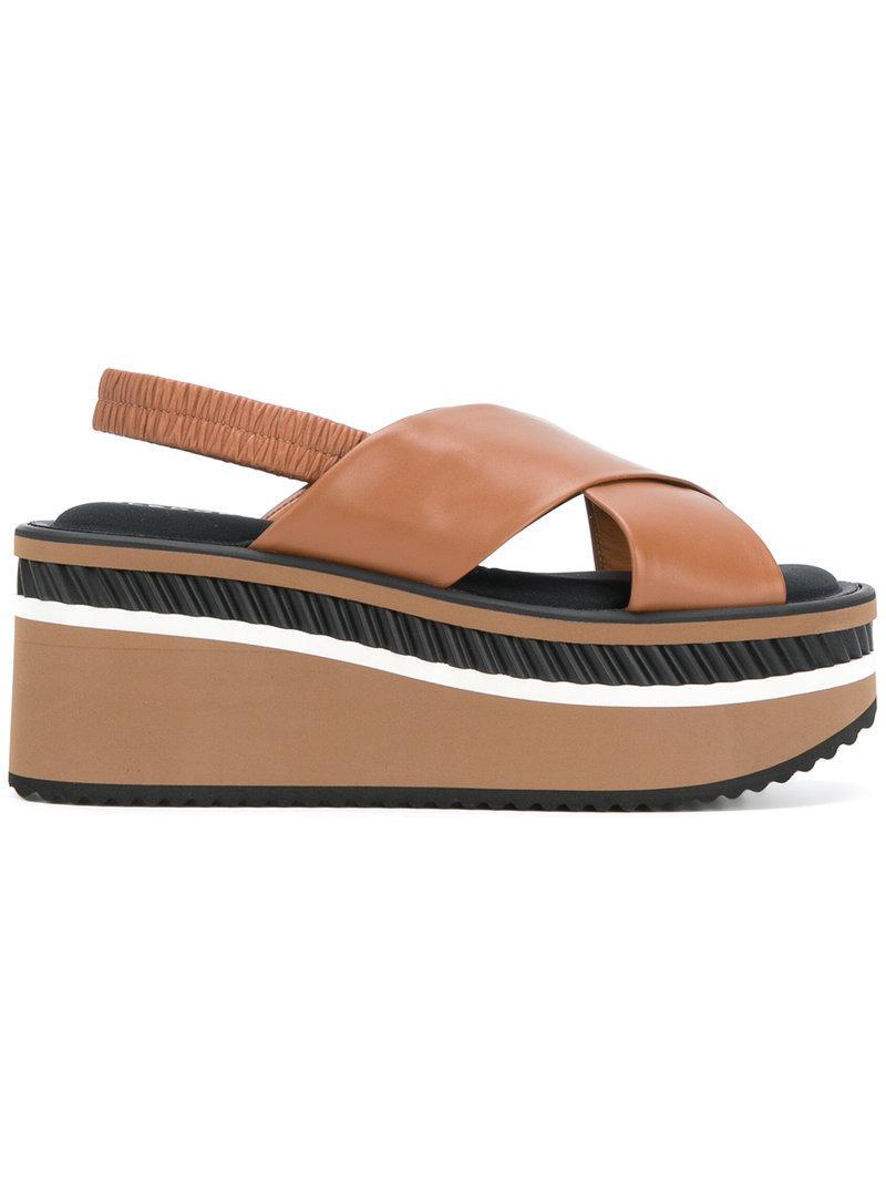 Get The Latest Fashion Crosse platform sandals - Brown Robert Clergerie Cheap Shop For Cheap Sale Pick A Best 5ZtWPUKOx