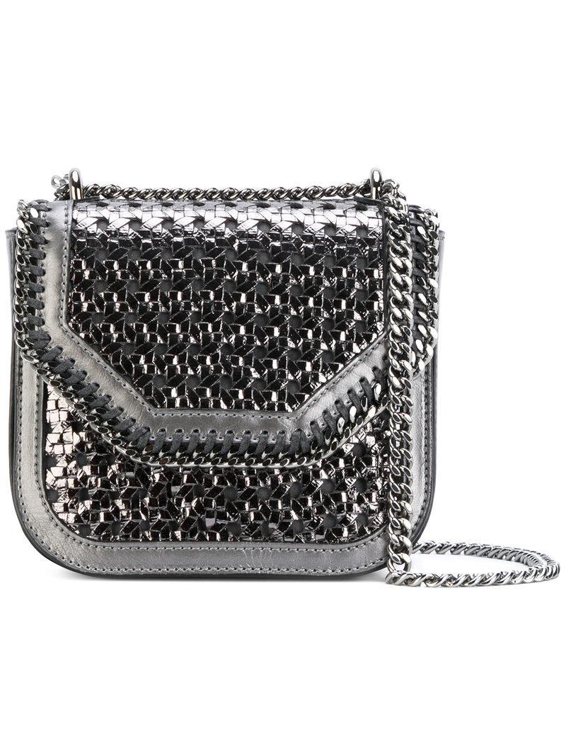 3957c4ec9227 Stella Mccartney Wicker Falabella Box Mini Shoulder Bag in Metallic ...