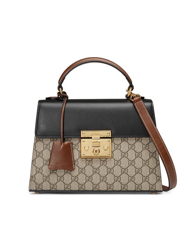 949a4dcbb1f8 Gucci Borsa A Mano Padlock In Tessuto Gg Supreme - Save 7% - Lyst