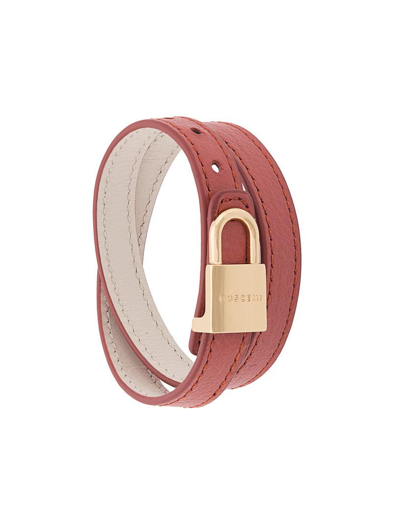 Buscemi wrap around lock bracelet - Pink & Purple 6l2o0RJ
